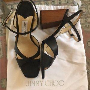 Black Jimmy Choo Joya 85mm sandals